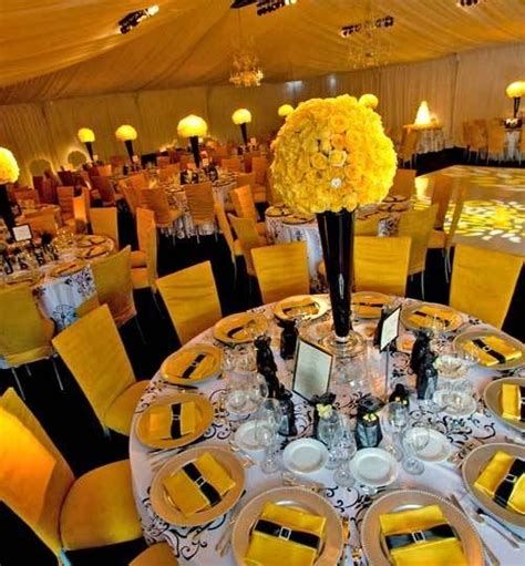 wedding decorations in yellow and black white black and yellow wedding pittsburgh wedding ideas