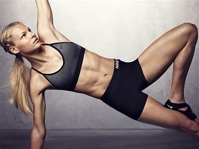 Fitness Klishina Shoot Darya Blonde Armpits Lingerie