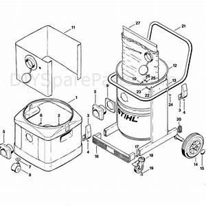 Stihl Se 100 Vacuum Cleaner  Se100  Parts Diagram  E