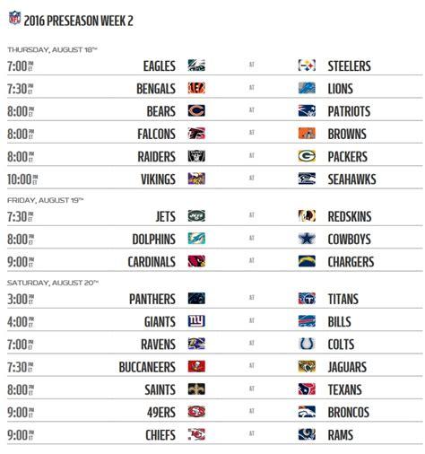 nfl preseason  schedule