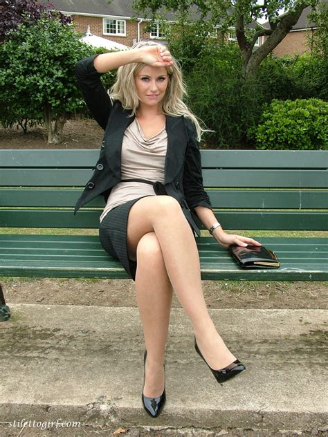 Office Slut In Stilettos And Nylons Pic Of This