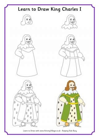 king charles  colouring page