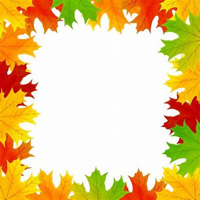 Border Leaves Fall Clip Frame Clipart Cliparts