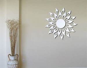 bathroom wall decorations sunburst wall decor With wall mirror decor