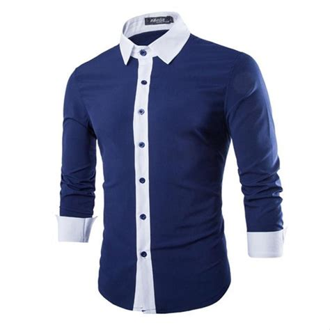 jual kemeja pria lengan panjang warna biru alazne 199 di lapak alazne clothes alazneclothes