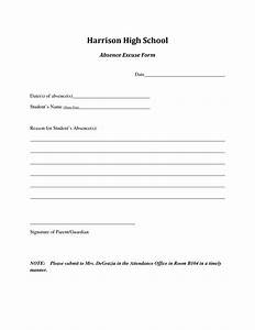8 best images of printable for school absence excuses for School absence note template free