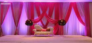Wedding Ideas : Pink And Purple Color Wedding Stage Decor