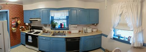 Turquoise Painted Kitchen Cabinets by Blue Kitchen