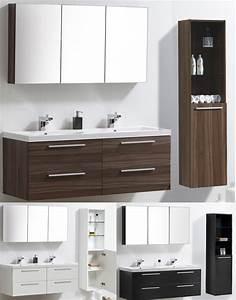 Badmöbel Mit Doppelwaschbecken : badm bel set doppelwaschbecken badezimmerm bel spiegel wei walnuss ebay ~ Indierocktalk.com Haus und Dekorationen