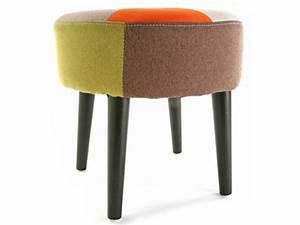 Tabouret De Bar Patchwork : tabouret patchwork rouge vente de chaise de cuisine conforama ~ Melissatoandfro.com Idées de Décoration