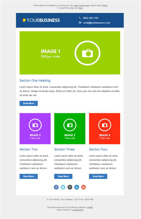 responsive email template  email marketing data