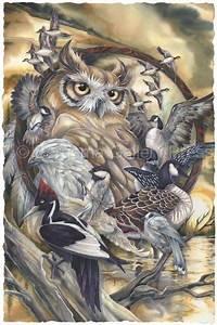 3d Owl Design Watercolor Drawings Of Friends Bird Artwork Cross
