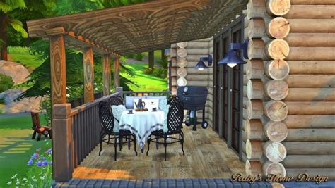 rubys home design forest cabin sims  downloads