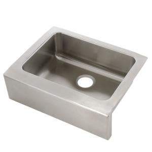 Home Depot Stainless Farm Sink by Elkay Lustertone Farmhouse Apron Front Stainless Steel 25
