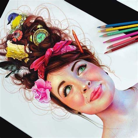 vibrant pencil drawings full  colors