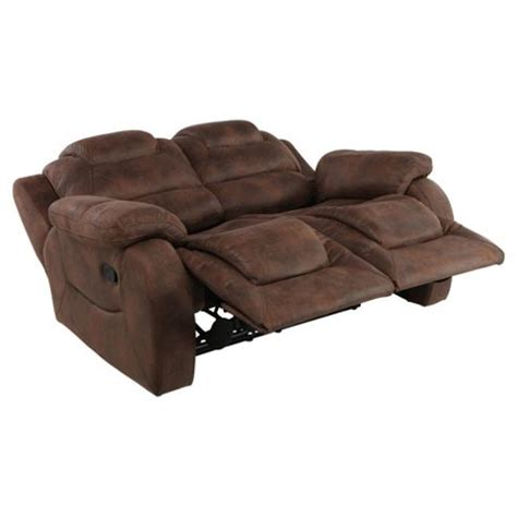 brown fabric recliner sofa buy lisbon small 2 seater fabric recliner sofa dark brown