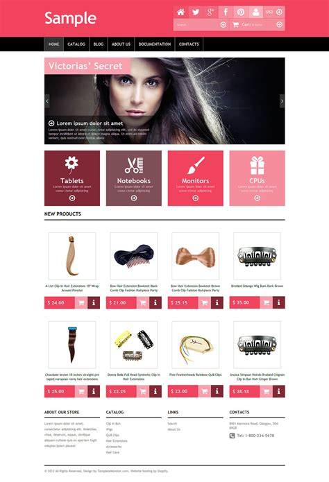 shopify website templates free sle shopify template