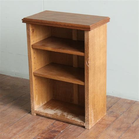 Bedside Bookcase by Robert Mouseman Thompson Oak Bedside Bookcase