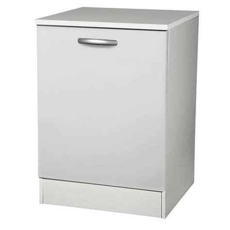 porte meuble de cuisine meuble de cuisine bas 1 porte blanc h86x l60x p60cm leroy merlin