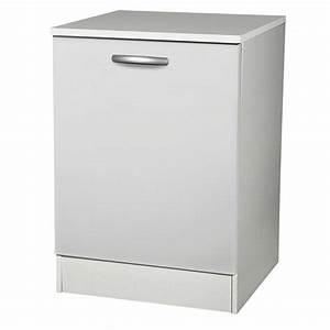 Meuble Cuisine Leroy Merlin : meuble de cuisine bas 1 porte blanc h86x l60x p60cm ~ Melissatoandfro.com Idées de Décoration