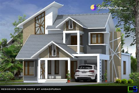 beautiful modern mixed sloped roof home   sqft