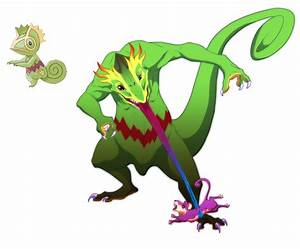 Kecleon- No escape from the tongue! by blueharuka on ...