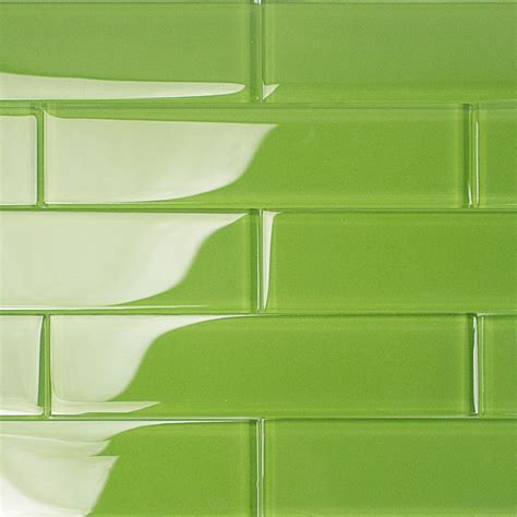 tile and grout shop for loft electric lime 2x8 polished glass tiles at