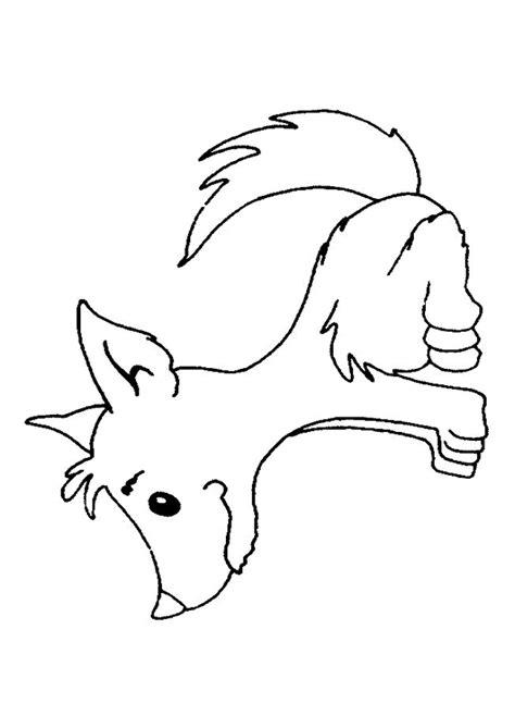 coloriage petit loup sur hugolescargot hugolescargot