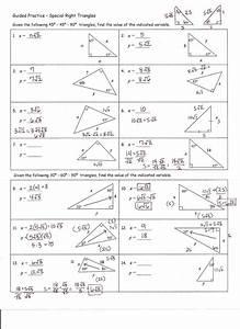 Worksheet  Special Right Triangles Worksheet  Worksheet