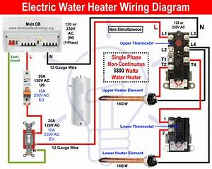 How To Wire 120v Water Heater Thermostat
