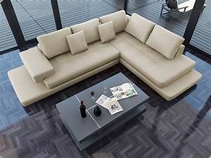 torano signature leather sectional modern sofas los With modern sectional sofa in los angeles