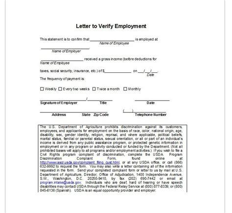 employee verification letter employment verification letter top form templates free