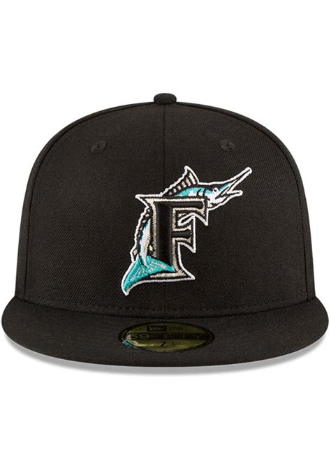 miami marlins  world series side patch fifty black