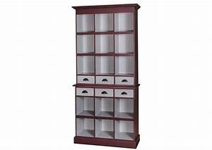 Bibliothèque En Pin : acheter votre biblioth que ouverte en pin massif 6 tiroirs 2 portes chez simeuble ~ Teatrodelosmanantiales.com Idées de Décoration