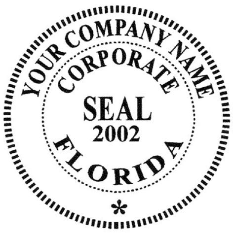 corporate seal template corporate seals sts supplies