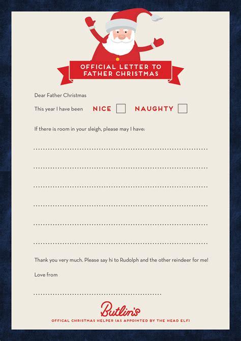 letter  father christmas butlins blog
