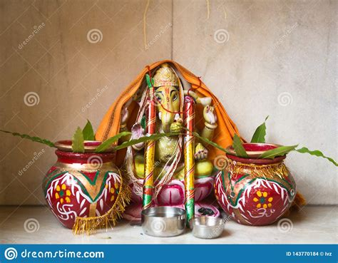 lord ganesha statue stock photo image  religious
