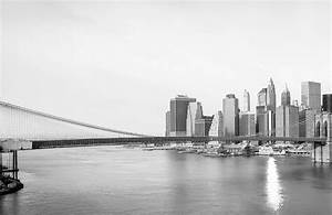 Black and White New York Landscape Wall Mural