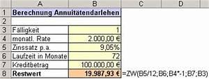 Zins Berechnen Formel : bersicht ms excel funktionen zw ~ Themetempest.com Abrechnung