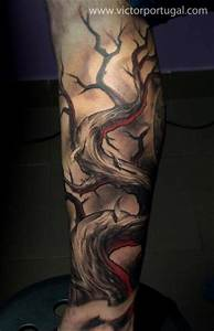 Baum Tattoo Bedeutung : arm fantasie baum tattoo von victor portugal ~ Frokenaadalensverden.com Haus und Dekorationen