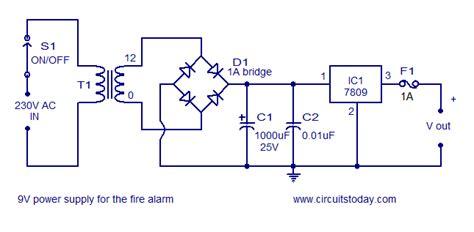 fire alarm circuit filling diagram