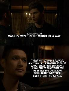 14 Best Shadowhunters Quotes from 'Iron Sisters' (2x06 ...