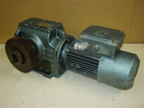 Sew Electric Motors by Sew Eurodrive 1 Hp Electric Motor Reduction Gear Ebay