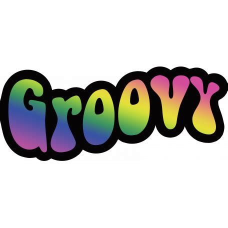 retro  groovy word graphic  rebecca sawyer pixel