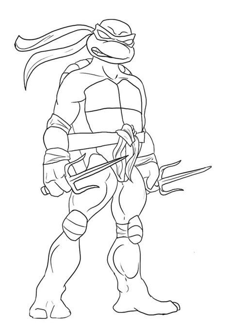 leonardo ninja turtle coloring page drawing pinterest