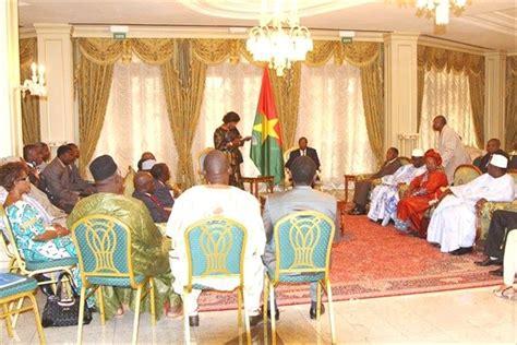 chambre de commerce brive le président du faso blaise compaoré reçoit en audience