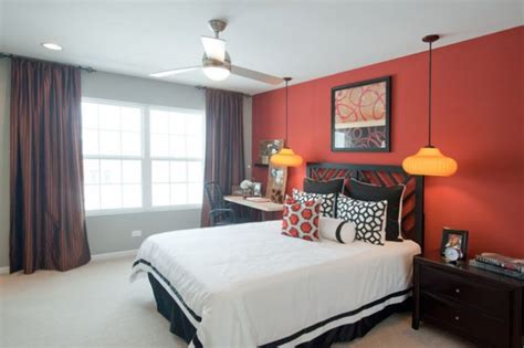 spectacular red bedroom designs   dramatic