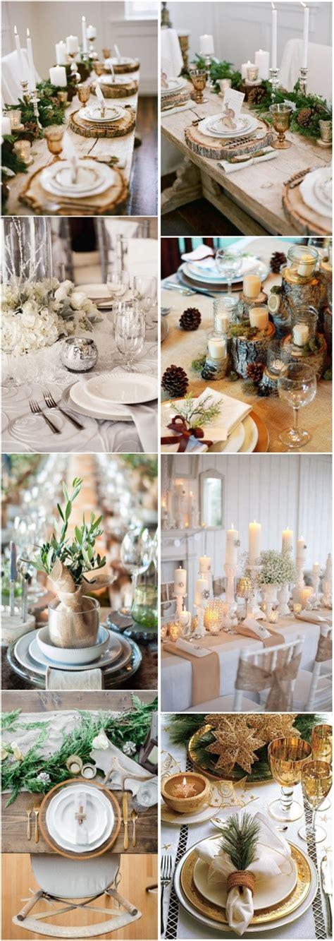 Winter Wedding Decor Ideas Winter Wedding Table Settings