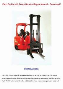 Flexi G4 Forklift Truck Service Repair Manual By