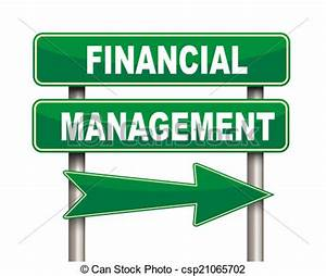 Stock Illustration of Financial management green road sign ...